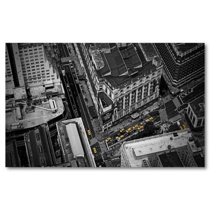 Αφίσα (πόλη, δρόμοι, μαύρο, λευκό, άσπρο)